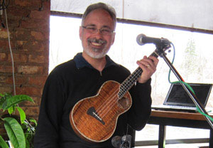 Gary Ralph playing a Kasha tenor ukulele